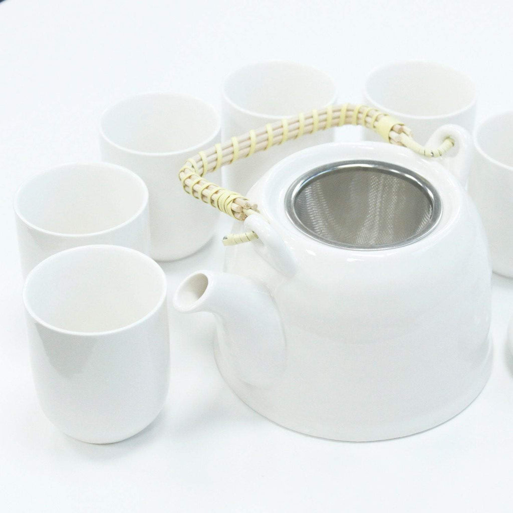 Herbal Tea Pot Set Pure White - I Spy A Simple Life