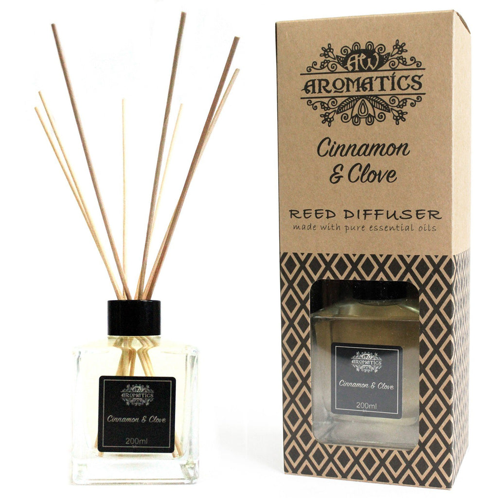 Natural Reed Diffusers - Pure Cinnamon and Clove Essential Oils - I Spy A Simple Life