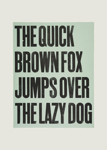 The Quick Brown Fox - light green