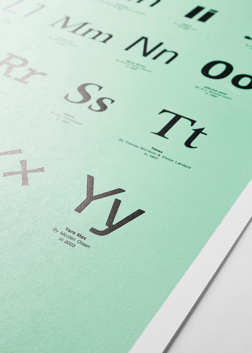 Typographer's ABC - Green