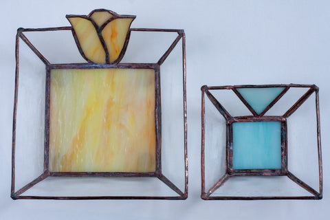 Jewellery dishes stained glass