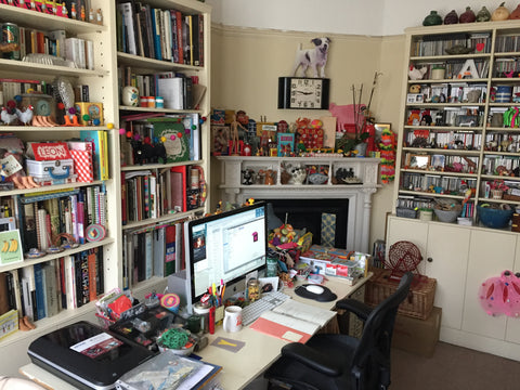 Anita Mangan home office
