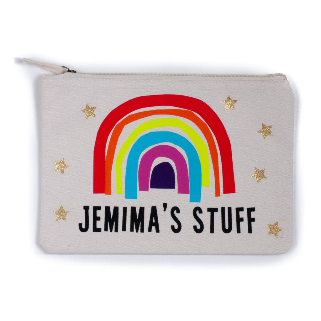 personalised rainbow pouch