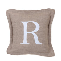 100% linen with personalised white cotton appliqué letter or symbol by sobu handmade