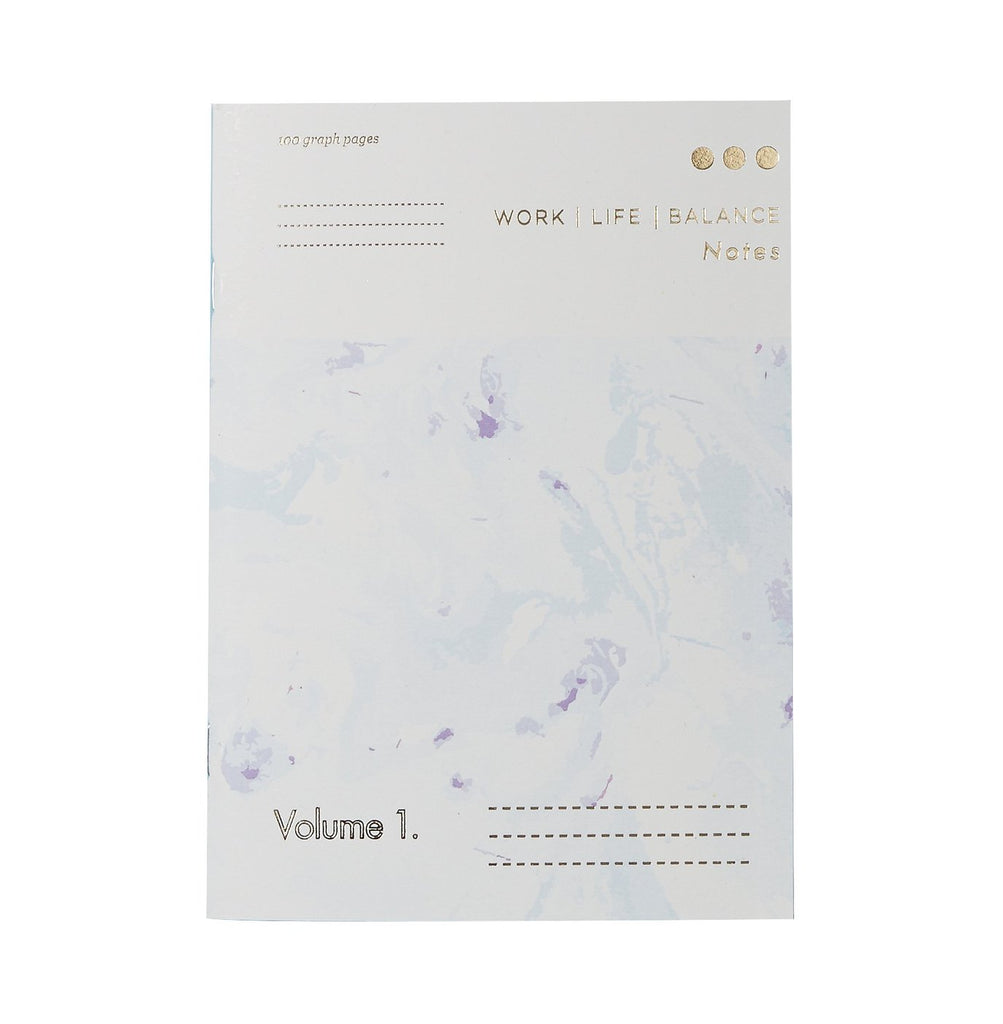 Work LIfe Balance Notebook Type & Story