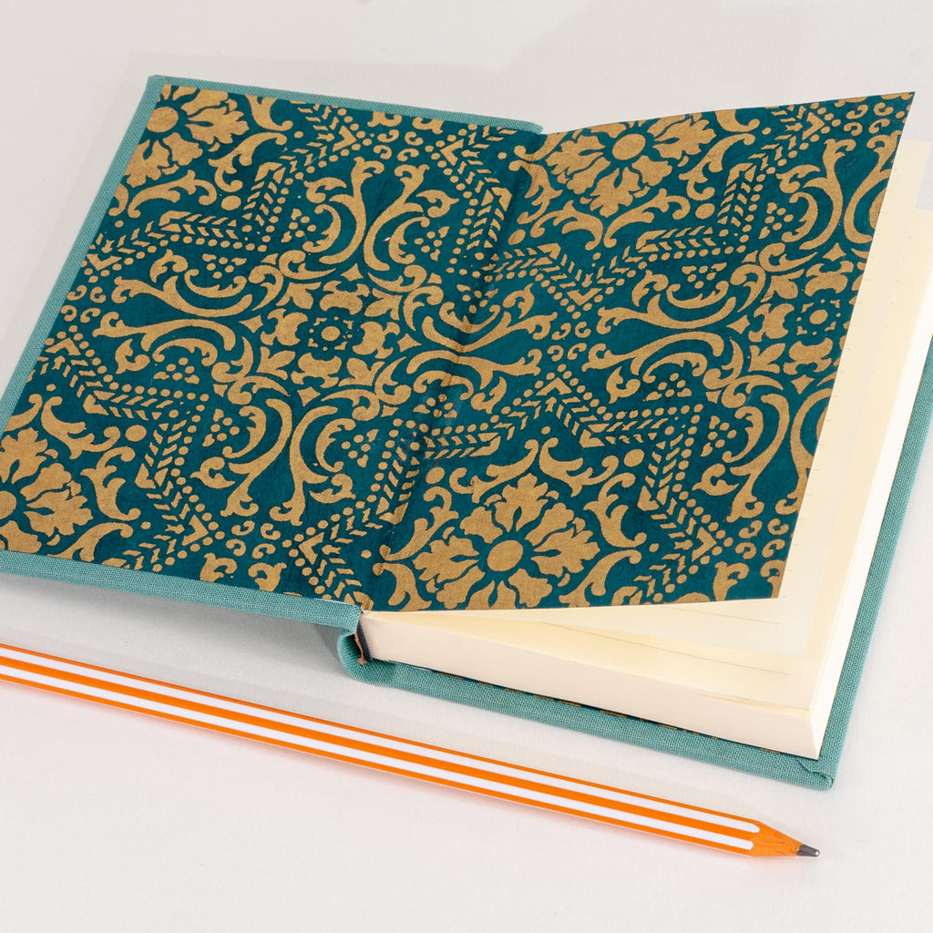 Pattern inside of handmade notebook