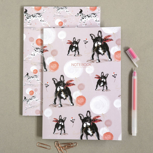 The French Bulldog & Dalmatian Dog|Dashing Dogs Collection A5 Notebooks (Set of 2)