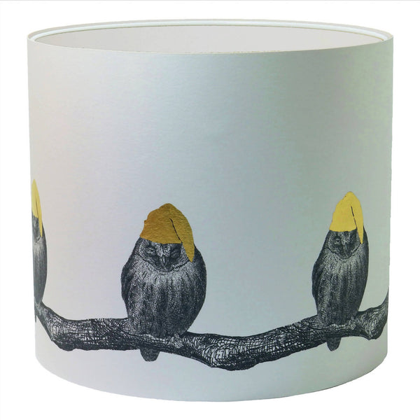 Sleepy Owl Lampshade