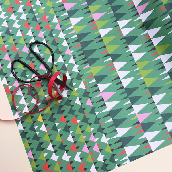 Original Designed Wrapping Paper: Mixed Design (Pack Of 12 Sheets)