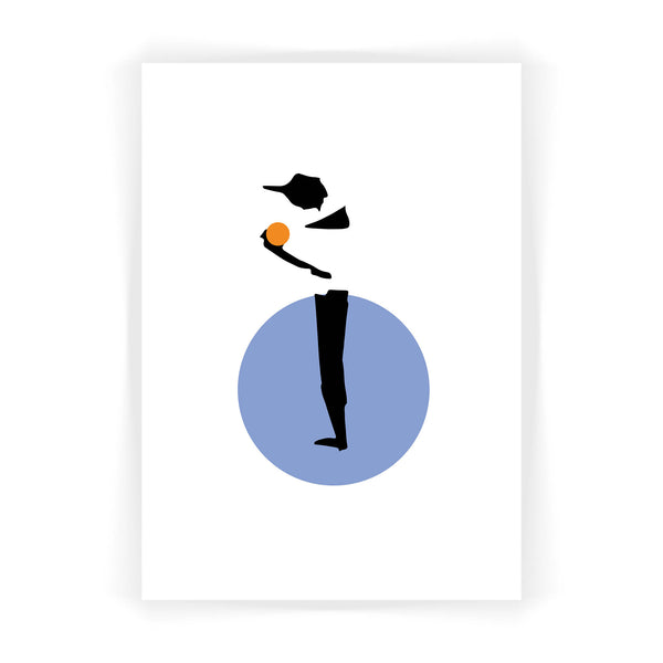 Cricket Player Giclée Print