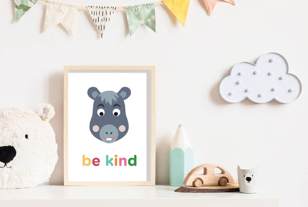 Be Kind Donkey Wall Print