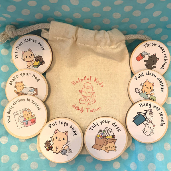 eco warriors helpful kids Tidy Bedroom Activity Tokens