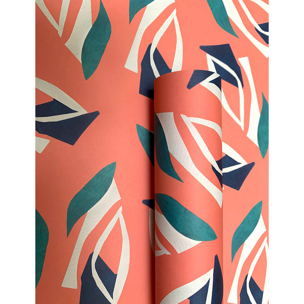 Coral Cut Out Wrapping Paper