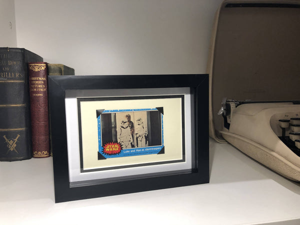 Original 1977 Star Wars Bubble Gum Trading Cards Framed Artwork