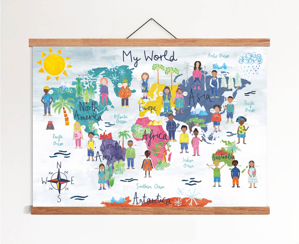 Children's Cultural & Diversity World Map