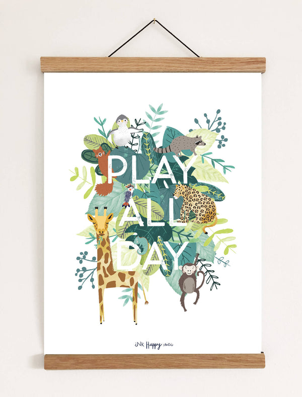 Play All Day Art Print