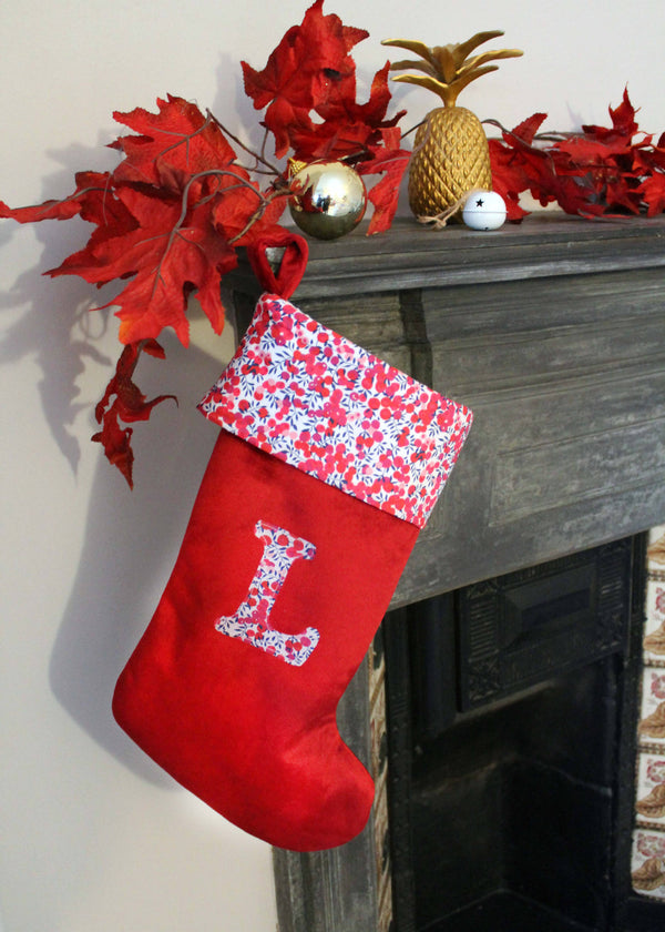 Liberty Print Personalised Christmas Stocking