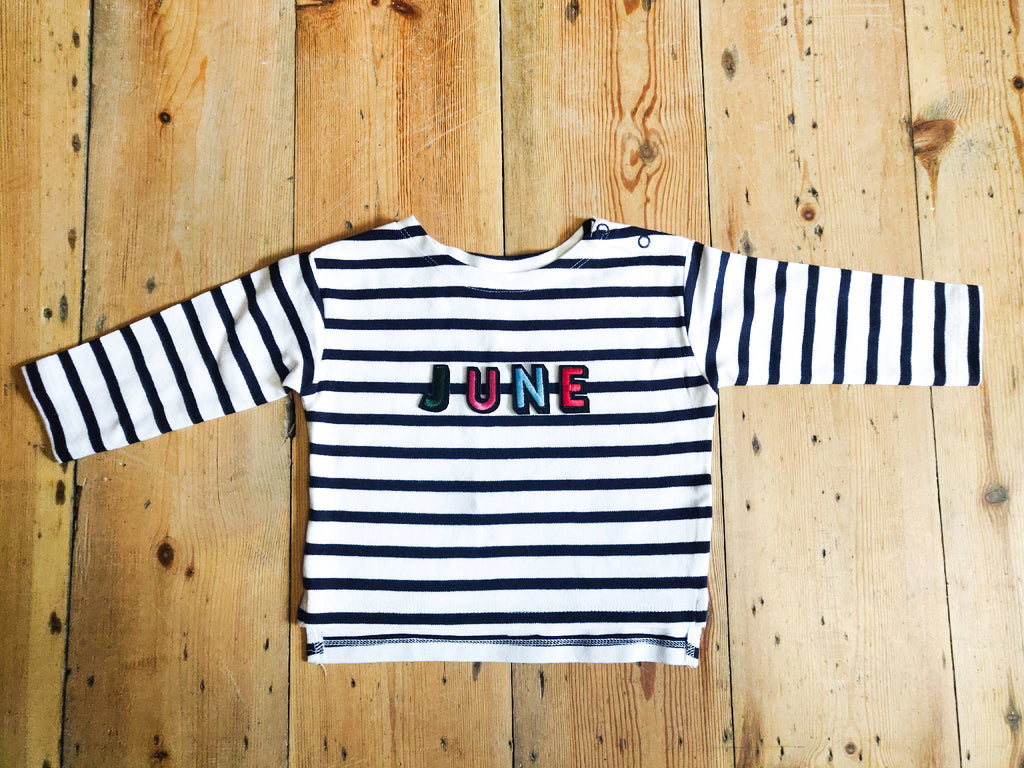 Birth Month Breton Long Sleeved Smock Top