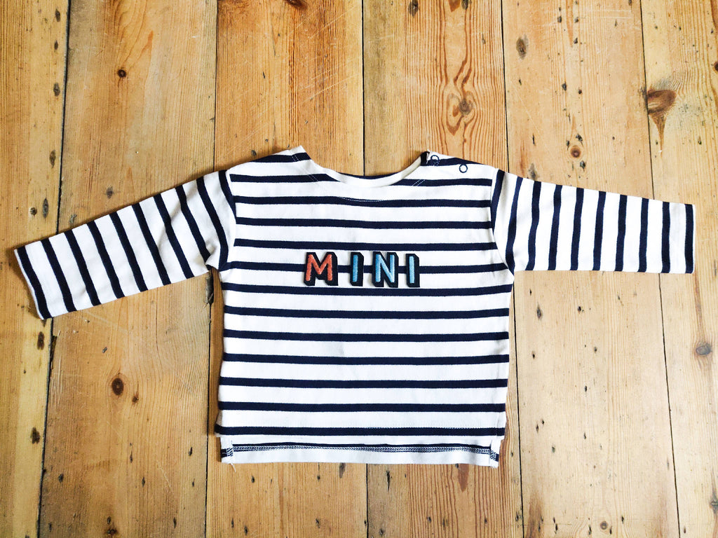 Bespoke Slogan Breton Long Sleeved Smock Top