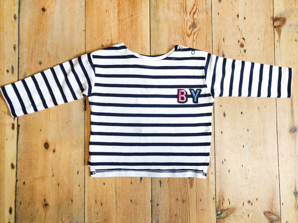 Monogrammed Breton Long Sleeved Smock Top