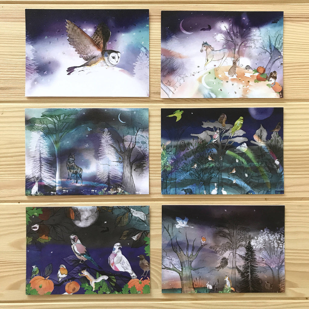 Winter Woodland Post Card Set (Pack Of Six)