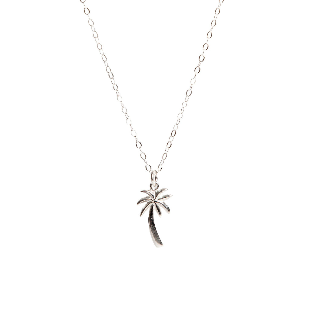 Silver Palm Tree Necklace - LilyKing
