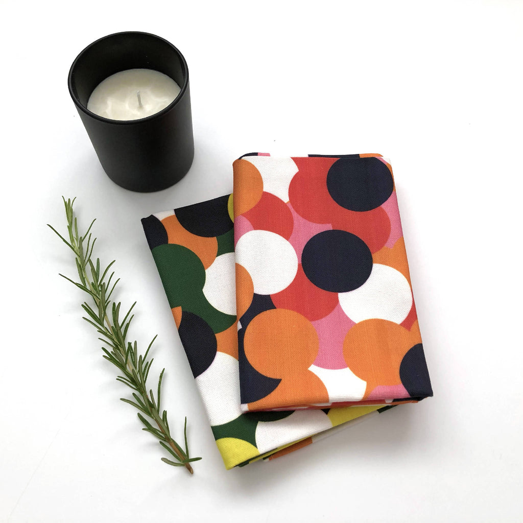 Dotty Tea Towels (Pack Of 2)