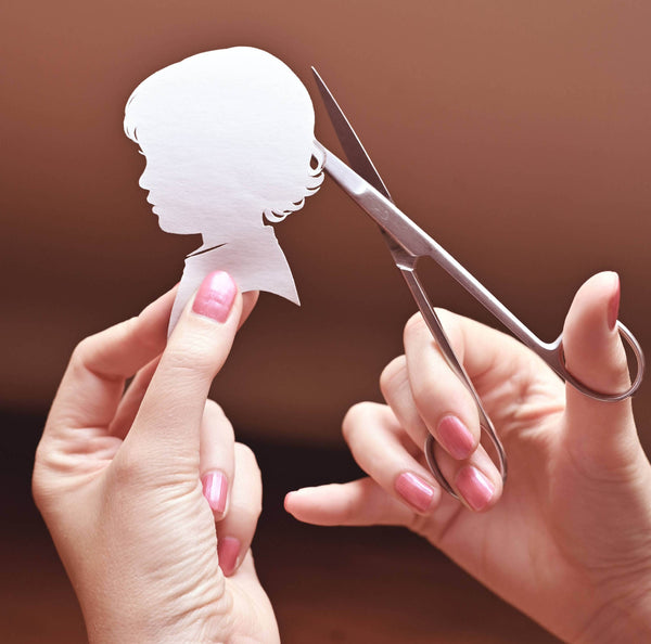 Gift the experience of having a silhouette portrait cut by hand - Live Over Zoom!