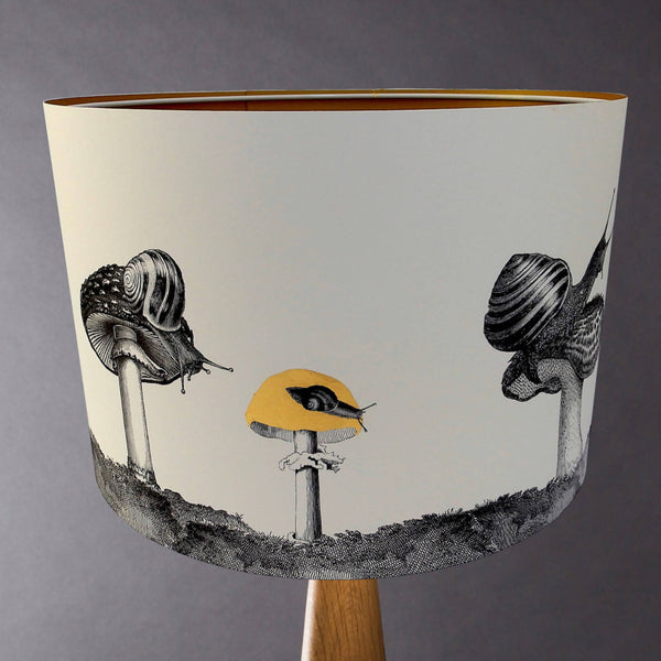 Snails And Mushrooms Lampshade