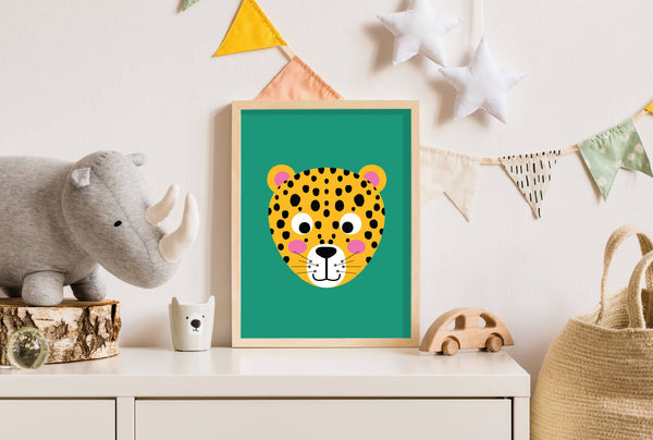 Personalised Cheetah Wall Print