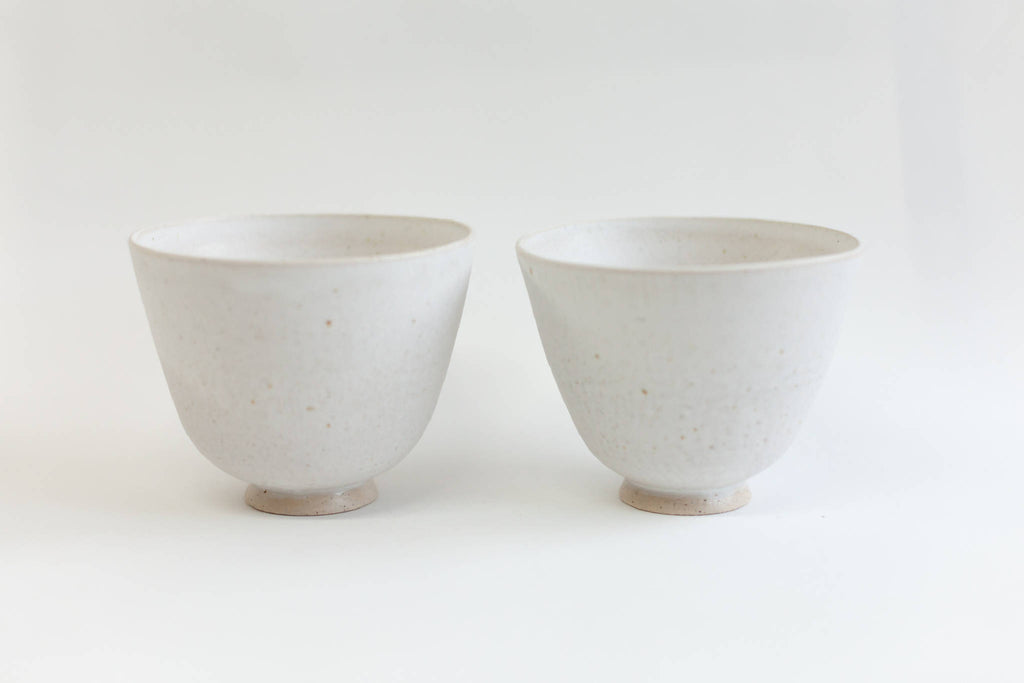 Small Flowers Bowl/Vase (Set Of Two)