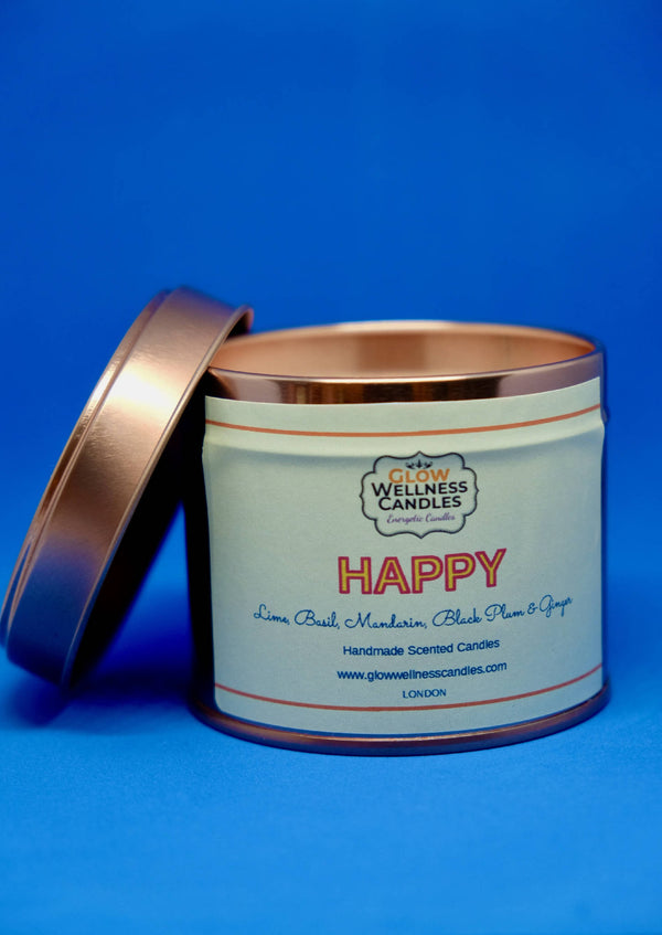 Happy Scented Candle Travel Tin 25cl