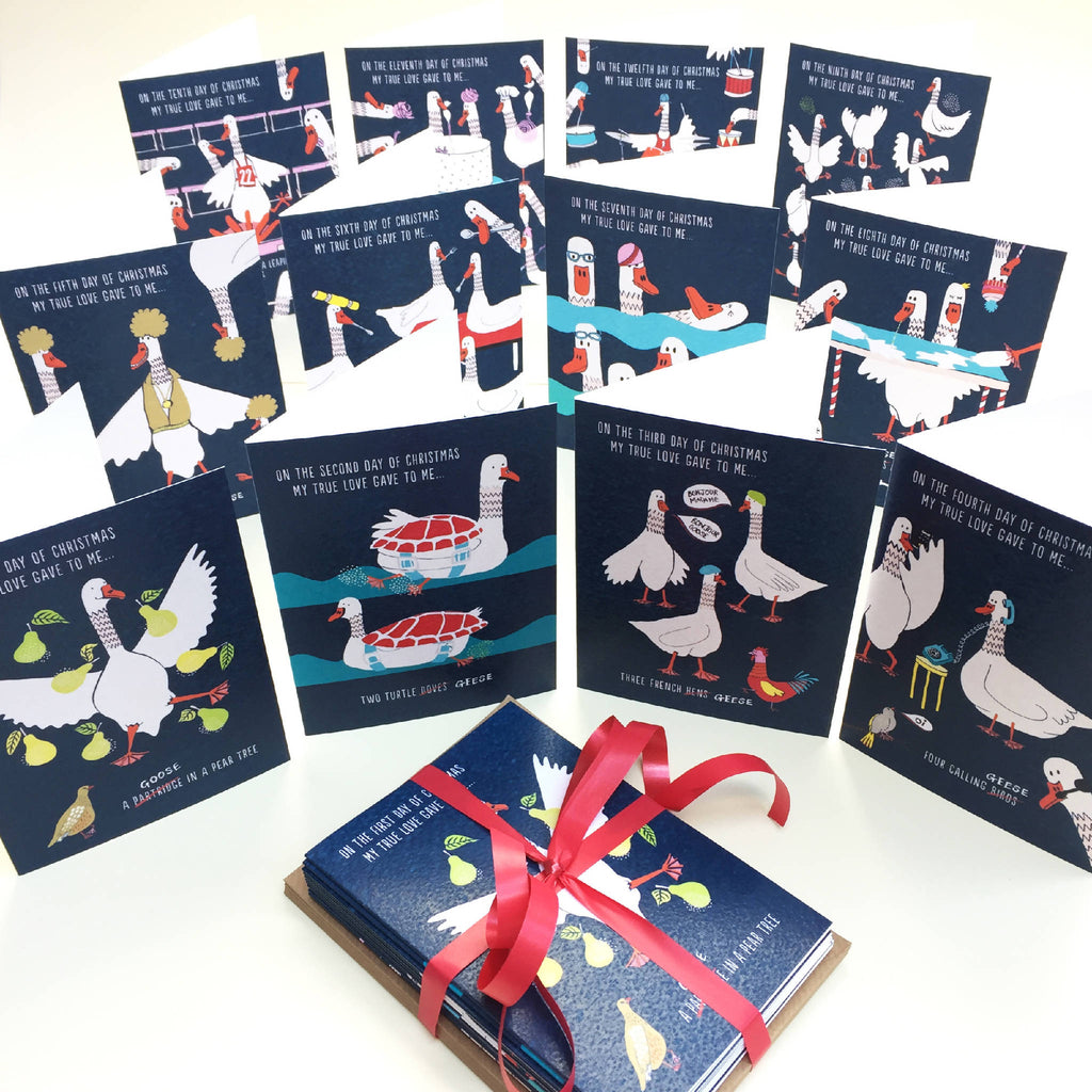 Goose Takeover Christmas Cards (Pack Of 12)