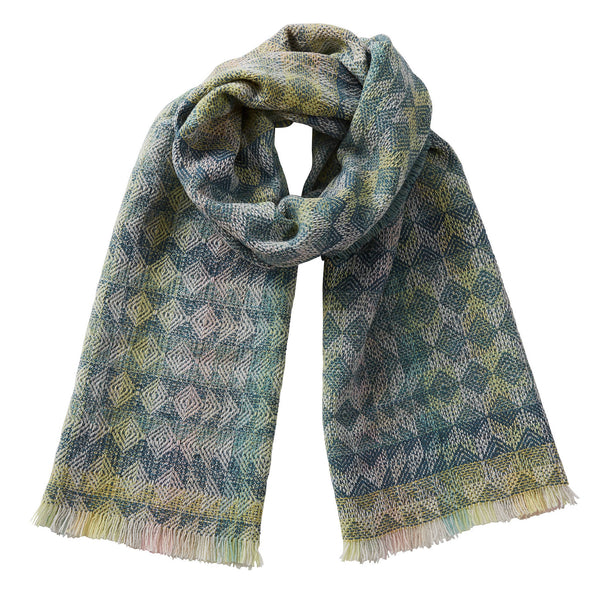 Merino Wool Oversized Scarf Heather Sea Green