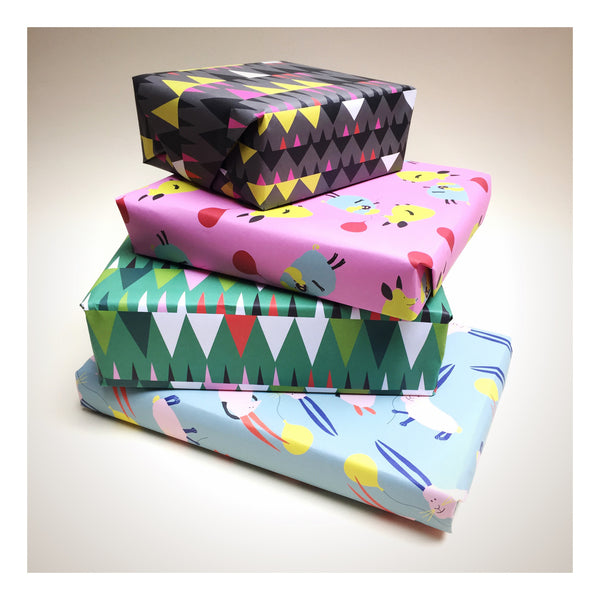 wrapping paper designed by Anita Mangan