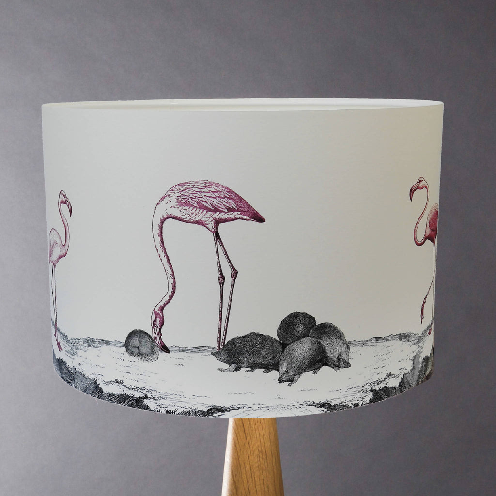 Curious Croquet - Flamingos and Hedgehogs Shade