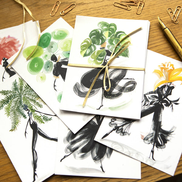 Flowers Of The Catwalk Collection Postcards (Mixed Set - Pack of 6)