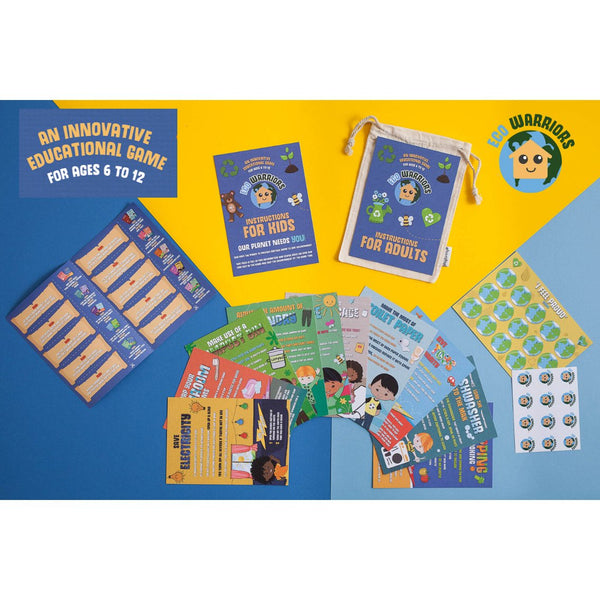 eco warriors standard pack with flash cards and stickers