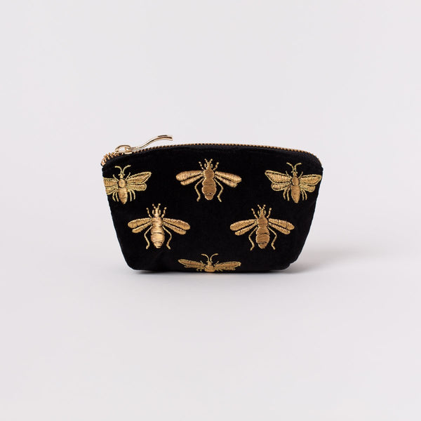 Bee Velvet Coin Purse