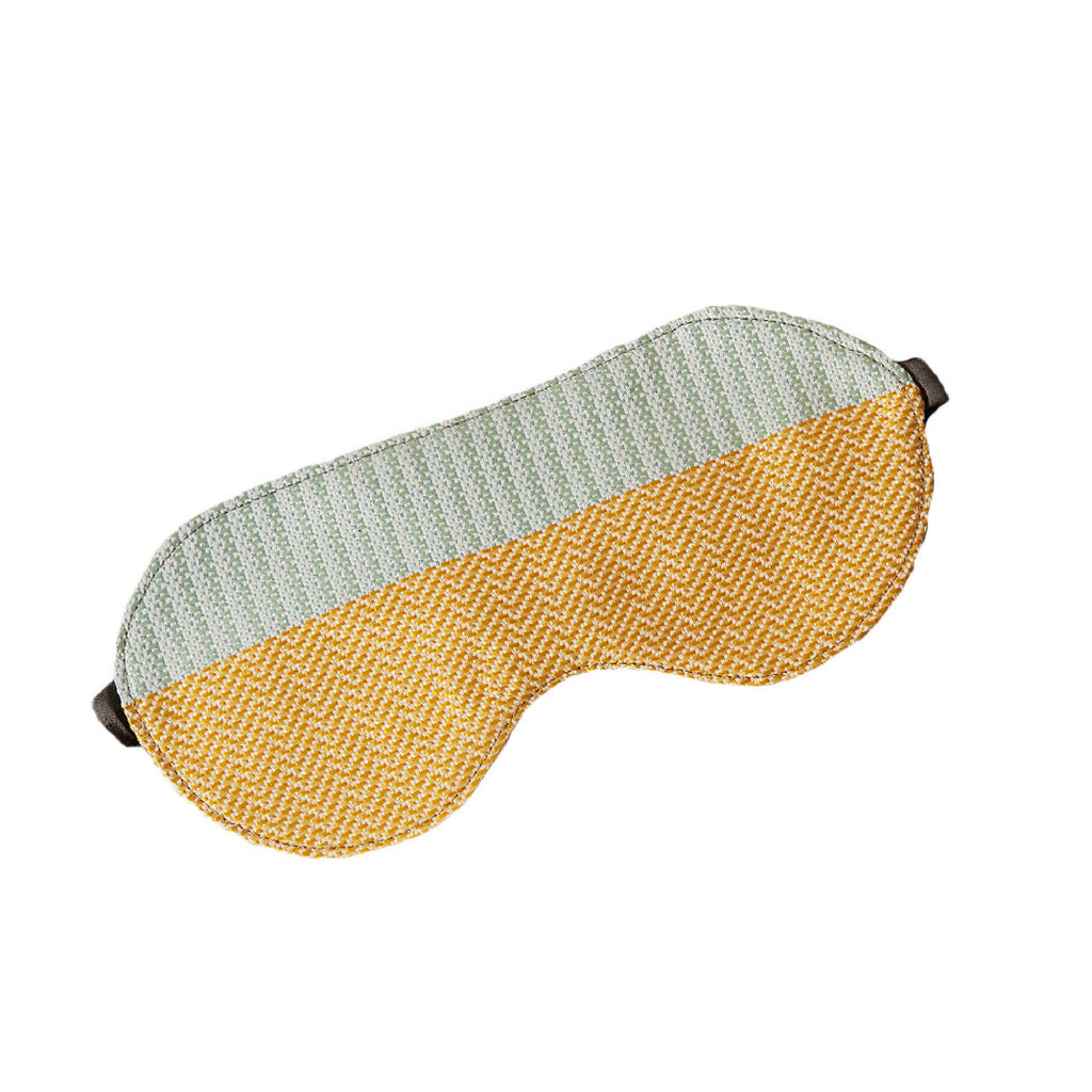 Luxury Silk Eye Mask Yellow Mint