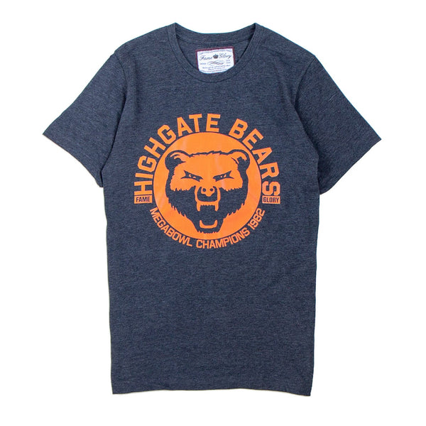 grey tshirt with the words highgate bears printed on it