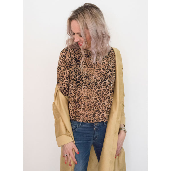 sustainable Leopard Print Biba Shift Top