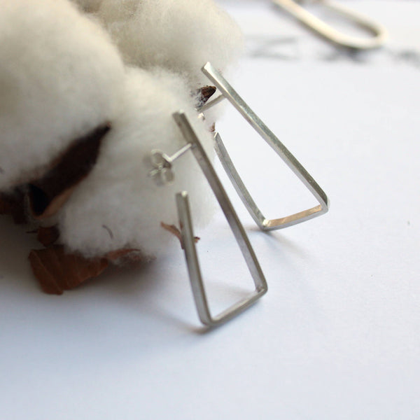 Long Minimal Earrings (Square, Circle, Diamond Options)