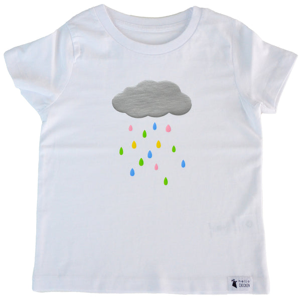 Unisex Rain Cloud White T-Shirt