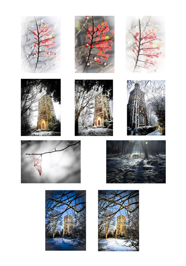 Hornsey Winter Christmas Cards (Pack Of 10)