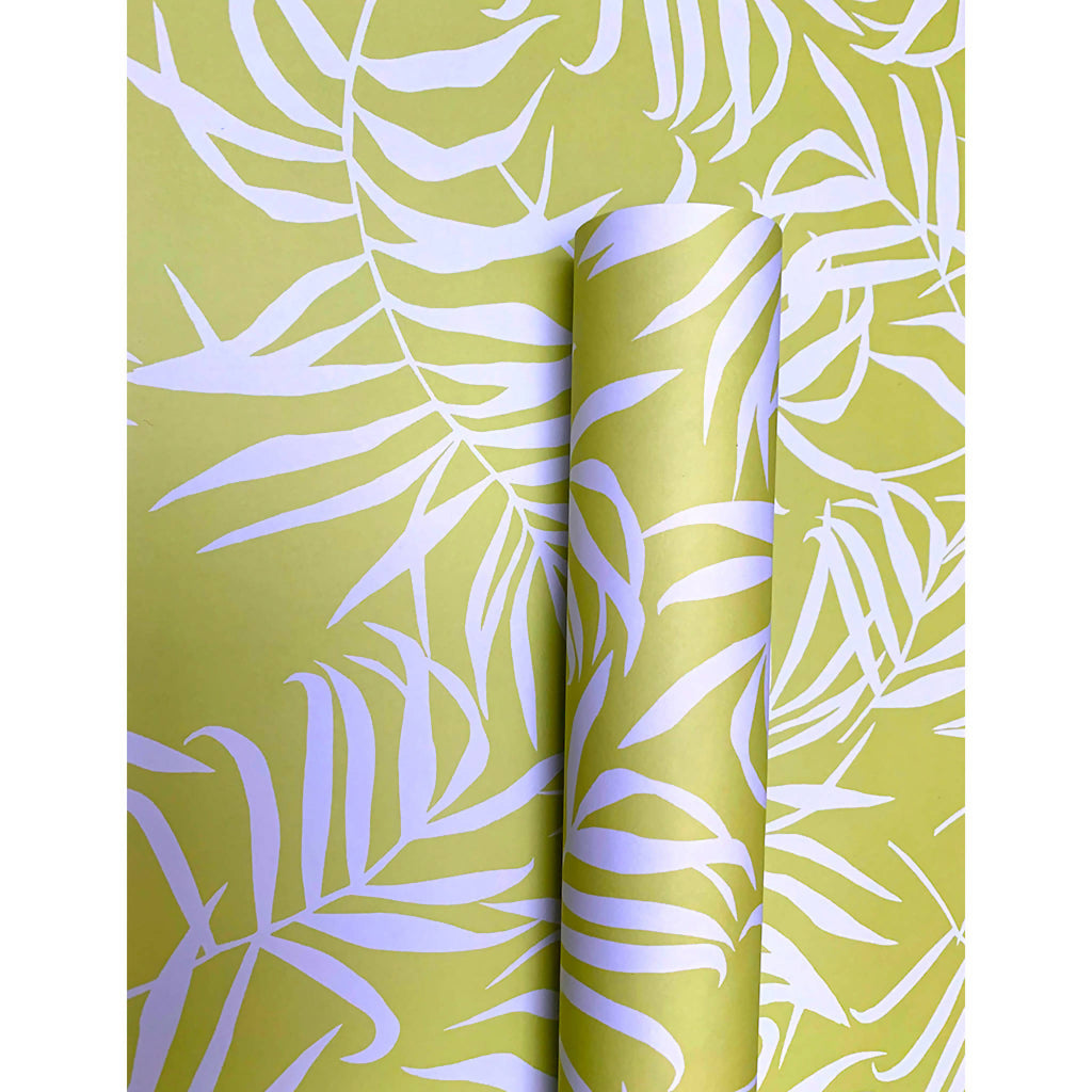Chartreuse Palm Wrapping Paper