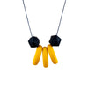 Baby Friendly Silicone Necklace - Mustard Banana Hexagon | New Mum Gift