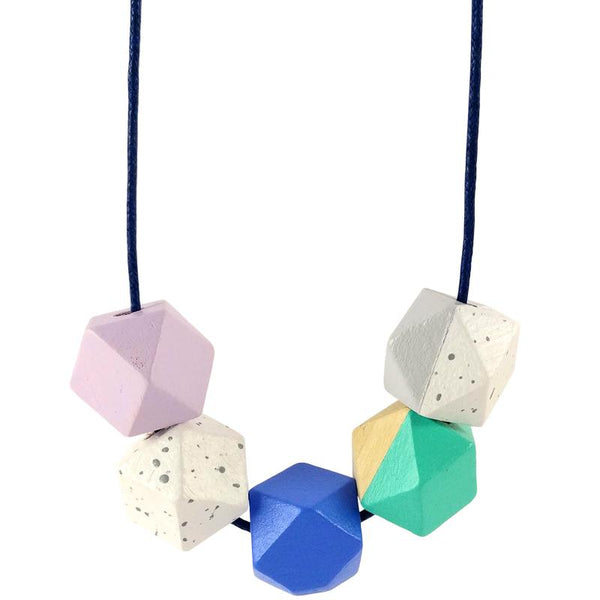 geometric designed ladies necklace