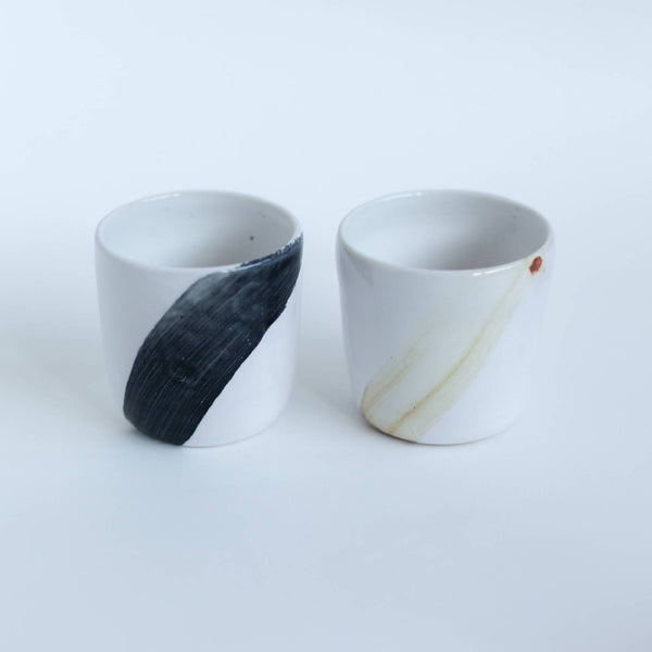 posy and pot espresso mugs wood green