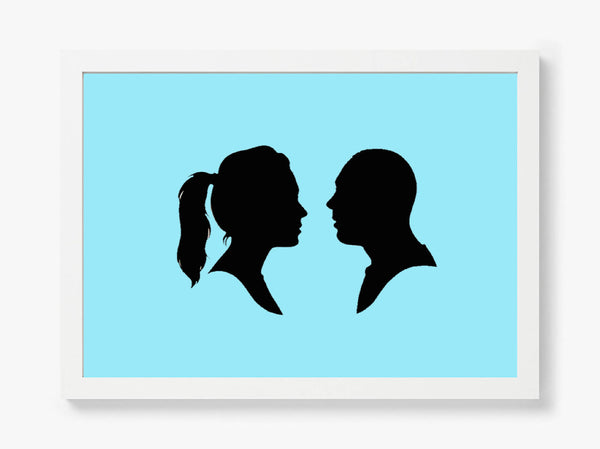 Hand Cut Silhouette Portrait of you and your loved one (set of two)